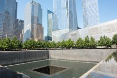 9/11 Denkmal im Lower Manhattan Stockfotos