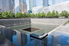 9/11 Denkmal im Lower Manhattan Stockbild
