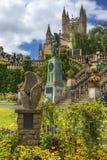 Denkmal König-Edward VII im Bad, Somerset, England Lizenzfreie Stockfotografie