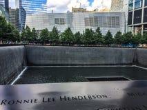 911 Denkmal, Lower Manhattan, NY stockbilder