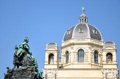 Denkmal Maria-Theresia und Museum, Wien stockbilder