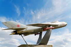 Denkmal MiG-19 Lizenzfreies Stockbild