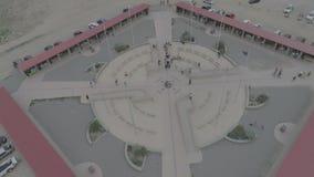 Denkmal mit vier Ecken stock video