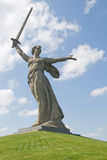Denkmal-Mutterlandsaufrufe in Wolgagrad, Russland Lizenzfreie Stockfotografie