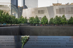 9-11 Denkmal in NYC - ExplorationVacation netz Lizenzfreies Stockbild