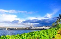 Denkmal am Pearl Harbor Stockfotografie