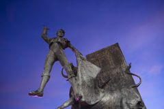 Denkmal in Plaza de Torros, Madrid Lizenzfreies Stockfoto