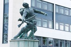 Denkmal-Skulptur des Zweiten Weltkrieges Lizenzfreie Stockfotografie