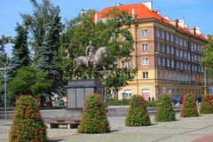 Denkmal in Szczecin Stockfotos