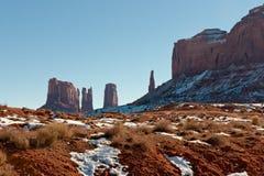 Denkmal-Tal im Winter Stockbilder