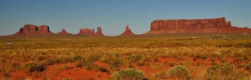 Denkmal-Tal-Navajo-Inder-Stammes- Park-Panorama Stockfoto