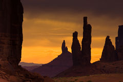 Denkmal-Tal-Sonnenuntergang Stockfoto