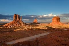 Denkmal-Tal, Utah, USA Lizenzfreie Stockfotos