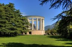 Denkmal in Trento stockbild