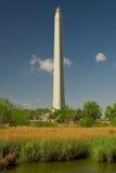 Denkmal und Sumpf San-Jacinto Stockfotografie