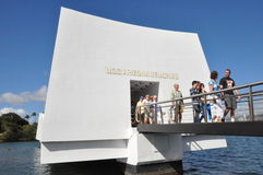 Denkmal USSs Arizona am Pearl Harbor in Oahu, Hawaii Lizenzfreies Stockfoto