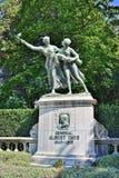 Denkmal von Albert Thys in Coinquantenaire Parc in Brüssel Lizenzfreie Stockfotografie