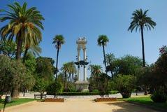Denkmal von Columbus, Sevilla stockbild