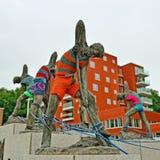 Denkmal von 250 Jahren des Kanals, Löwen Lizenzfreies Stockbild