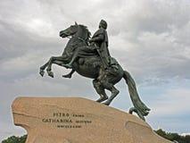 Denkmal von Peter der Große Stockbilder