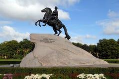 Denkmal von Peter der Große, St Petersburg. Stockfotos