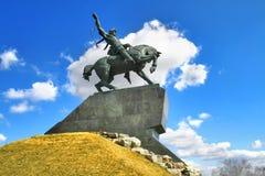 Denkmal von Salawat Yulaev in Ufa Stockfotografie