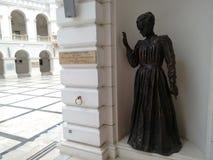 Denkmal Warschau Curie Sklodowska Maria lizenzfreies stockfoto