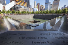 Denkmal am World Trade Center-Bodennullpunkt Stockbilder