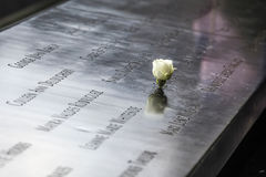 Denkmal am World Trade Center-Bodennullpunkt Stockbild