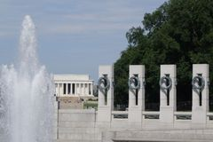 Denkmal WW II in Washington DC Lizenzfreie Stockfotografie