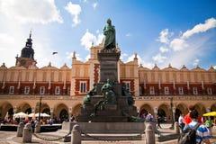 Denkmal zu Adam Mickiewicz in Krakau Lizenzfreies Stockbild