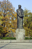 Denkmal zu Adam Mickiewicz in Poznan Lizenzfreie Stockbilder