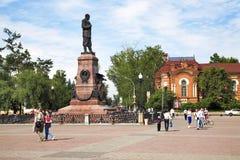 Denkmal zu Alexander III in Irkutsk Lizenzfreies Stockfoto