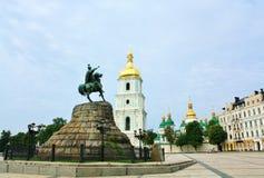 Denkmal zu Bohdan Khmelnytsky in Kiew lizenzfreies stockfoto