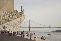 Denkmal zu den Entdeckungen in Lissabon Stockbild