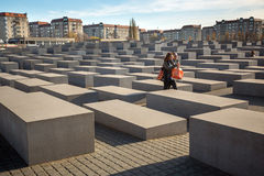 Denkmal zu den ermordeten Juden von Europa, entworfen vom Architekten Peter Eisenman und vom Ingenieur Buro Happold Lizenzfreie Stockfotos