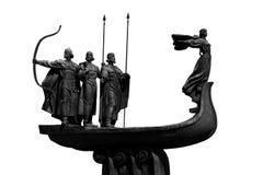 Denkmal zu den Gründern von Kiew Lizenzfreie Stockfotografie