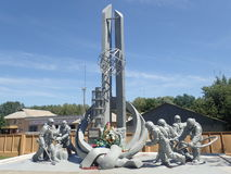 Denkmal zu den Notarbeitskräften, Tschornobyl Stockfotos