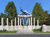 Denkmal zu den Opfern der deutschen Besetzung in Budapest Lizenzfreie Stockfotografie