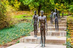 Denkmal zu den Opfern des Kommunismus in Prag, Tschechische Republik lizenzfreie stockfotografie