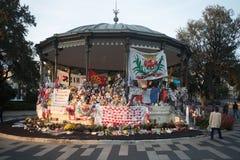 Denkmal zu den Opfern des Nizza Angriffs Lizenzfreie Stockfotos