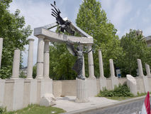 Denkmal zu den Opfern von Geraman-Besetzung Stockbilder