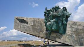 Denkmal zu den Soldaten stockbild