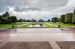 Denkmal zu gefallen in Normandie Stockbilder