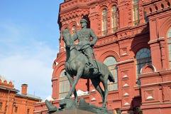 Denkmal zu George Zhukov Lizenzfreie Stockfotografie