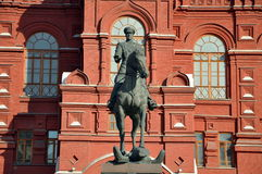 Denkmal zu George Zhukov Stockbilder