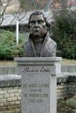 Denkmal zu Martin Luther in Subotica, Serbien Lizenzfreies Stockfoto