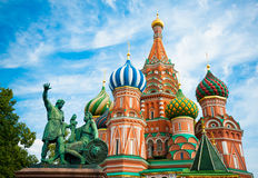 Denkmal zu Minin und zu Pozharsky Stockfotografie