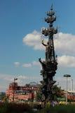 Denkmal zu Peter der Große in Moskau Lizenzfreies Stockbild
