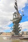 Denkmal zu Peter I moskau Lizenzfreies Stockbild